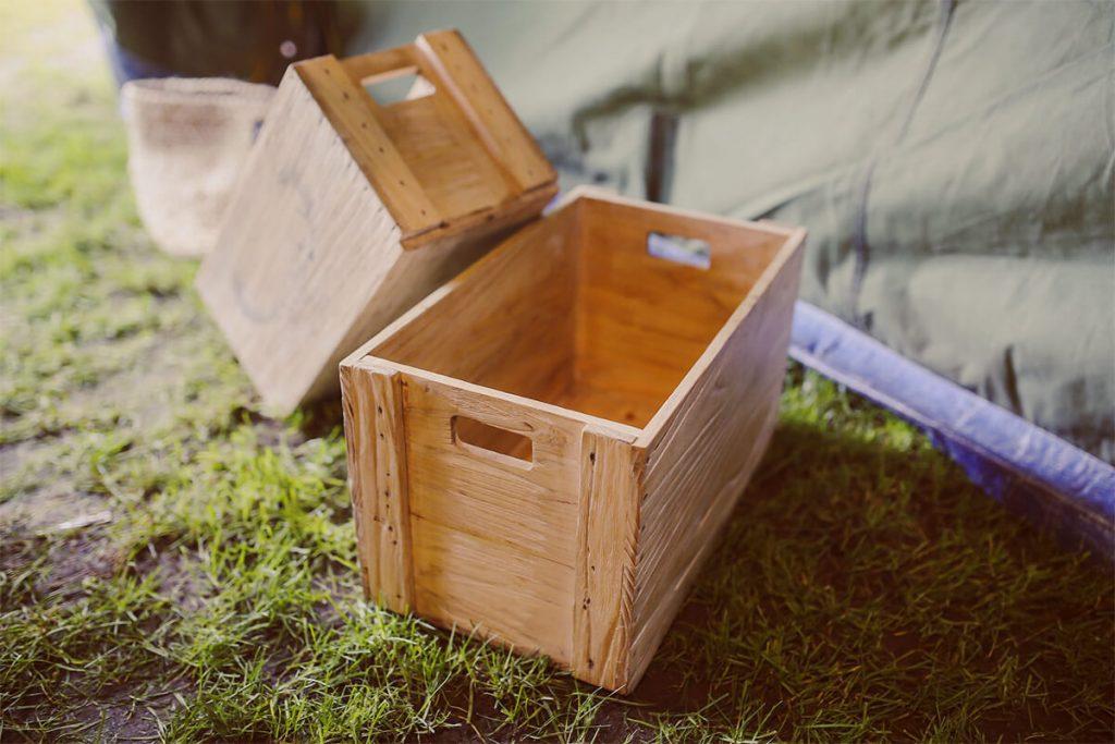 木箱のストッカー
